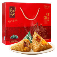 【当当自营】真真老老 端午节粽子礼盒蛋黄肉粽 江南真味1750g