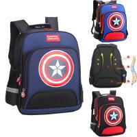 新款儿童背包美国队长1-3-6年级书包小学生双肩男生书包