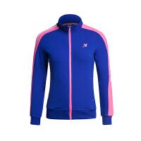 特步女子运动外套秋季新款轻便舒适休闲运动上衣984128060994