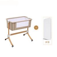 欧式婴儿床新生儿多功能便携式实木bb抖音宝宝床拼接大床