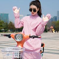 摩托车衣电动车衣电动摩托车衣女夏季骑车全身长款棉
