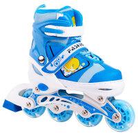 滑冰鞋男女小孩轮滑鞋溜冰鞋儿童全套装可调闪光直排轮旱冰鞋