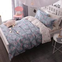 纯棉单人床上三件套大学宿舍床单被套学校1女生1.2m1.5米0.9寝室2