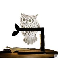 LED新奇特创意猫头鹰夜灯温馨护眼阅读手机伴睡台灯惊喜的礼物节日礼品新年元旦礼物 USB 插可调光