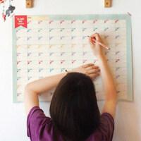 倒计时100天学习计划表工作奋斗目标表期末考大冲刺墙贴好习惯每日百日时间管理成长打卡生活记录自律安排表