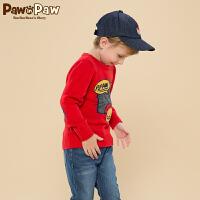 【2件2.5折 到手价:125】Pawinpaw宝英宝卡通小熊童装冬季款男童圆领针织衫