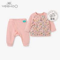【直降】英氏婴儿内衣套装 新生儿纯棉和尚服套装 迪士尼系列 181A0327