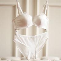大码文胸罩套装薄款网纱蕾丝聚拢性感调整型收副乳本命年少女内衣 70A+S内裤 套装