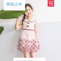儿童裙子夏装新款女童公主裙宝宝夏季连衣裙小女孩淑女蕾丝网纱裙