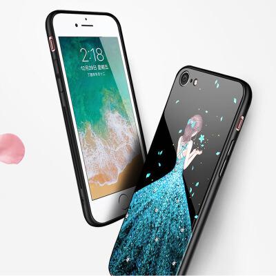 苹果6手机壳iPhone6plus套玻璃男女8p全包7plus