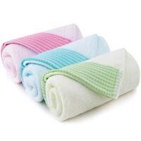 三利 素色缎边棉竹纤维面巾 洗脸毛巾 超值组合3条装