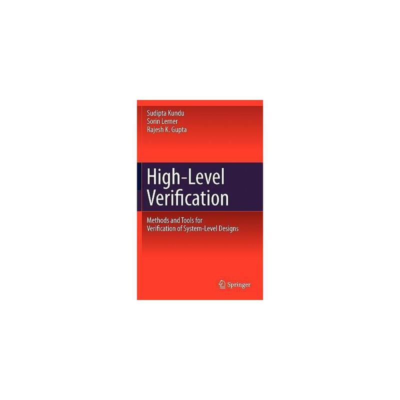 【预订】High-Level Verification: Methods and Tools for 美国库房发货,通常付款后3-5周到货!