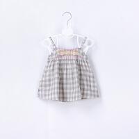 婴儿夏季吊带背心女宝宝衣服