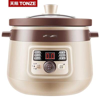 天际3L电炖锅电炖盅全自动煮粥煲汤锅家用煲粥3-4人 * 三段调温 旋钮控制 3L容量