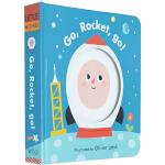 Little Faces Go, Rocket, Go! 英文原版 精装绘本 变景书 幼儿情绪