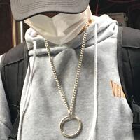 新款INS同款 百搭帅炸圆环挂饰项链饰品