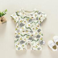 婴儿衣服连体衣夏季短袖宝宝衣服幼儿哈衣新生儿夏装