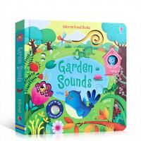 英文原版 Garden Sounds 花园里边谁在唱 儿童触摸发声书 聆听花园里的各种声音 低幼启蒙英文磨耳 句型简单