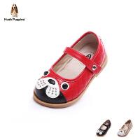暇步士Hush Puppies童鞋小狗时装鞋女童学生鞋萌趣时尚儿童皮鞋DP9072