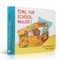 英文原版 Time for School, Mouse! 上学时间到!幼儿童英语启蒙图画书绘本3-6岁亲子睡前故事阅读