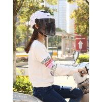 野马电动车头盔女士夏季男摩托车半覆轻便式电瓶车帽防晒安全头帽