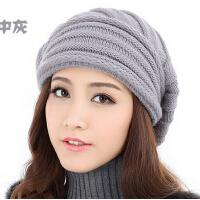 女款秋冬天韩版潮时尚女士帽子 冬季 双层针织毛线帽子帽子