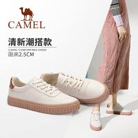 骆驼女鞋2019秋季新款休闲鞋女百搭平底单鞋女板鞋女防滑小白鞋女