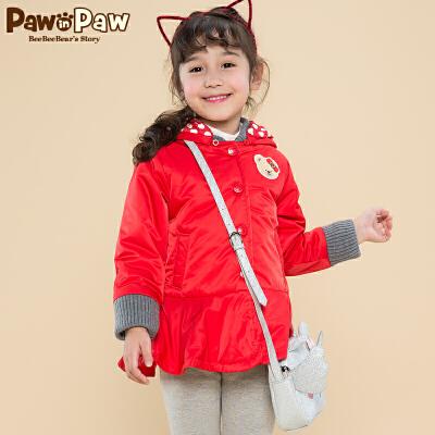【2件2.5折 到手价:225】Pawinpaw宝英宝卡通小熊童装冬季款女童棉服 卡通小熊童装