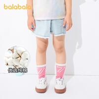 【品类日4件4折】巴拉巴拉儿童裤子女童牛仔短裤夏季宝宝裤裙