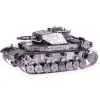 3D立体拼图金属模型德国四号坦克悍马T90军事拼装玩具