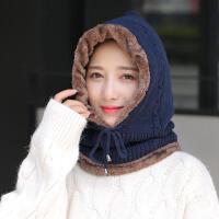 中老年人帽子女士冬天加厚连体妈妈毛线帽老人奶奶老太太冬季保暖
