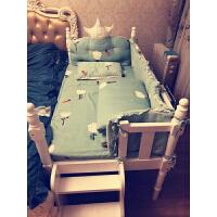 欧式婴儿床欧式实木白色儿童床带护栏男孩女孩婴儿床拼接加宽床宝宝床可定做D15 其他