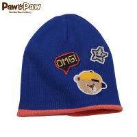 【2件3折 到手价:59】Pawinpaw宝英宝卡通小熊童装冬季款卡通针织帽