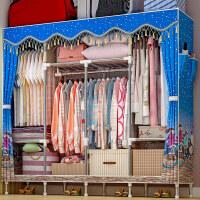 索尔诺简易衣柜布衣柜加粗加固布衣柜简约现代经济型组装衣橱收纳柜子1971