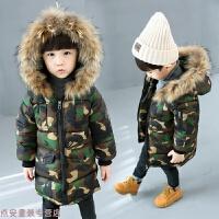 冬季儿童迷彩棉衣中长款男童加厚外套宝宝冬装羽绒1-2-3-45岁秋冬新款 迷彩棉衣