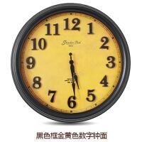 15.5英寸美式客厅复古挂钟圆形简约石英钟欧式创意静音卧室钟表 16英寸