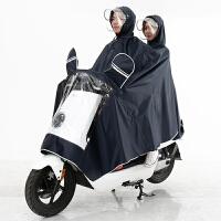 电动车雨衣雨披双人电动车雨衣面罩雨衣