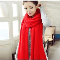 女冬季韩国女加厚毛线针织秋冬天围脖学生围巾披肩