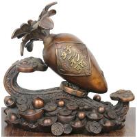 铜胡萝卜 黄铜胡萝卜工艺礼品铜好彩头开业礼品摆件如意