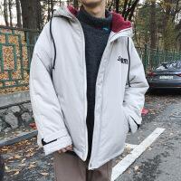 2018冬季新款韩版外套男士潮流棉衣加厚棉袄连帽男装夹克ins冬装
