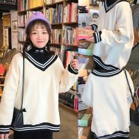 百搭宽松加绒v领卫衣女冬季韩版2017新款套头外套大码胖mm200斤