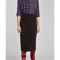 秋冬新款包臀裙显瘦一步裙子女过膝半身裙
