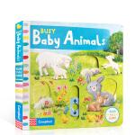 英文原版绘本 busy系列 Busy Baby Animals 机关操作纸板书 幼儿启蒙亲子互动玩具童书 边玩边学 锻