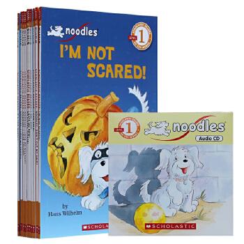 进口英文原版 Noodles 系列 Scholastic Reader 学乐分级读物 首阶段10本+CD礼盒I love rainy days/Don'tcut my hair!小狗杜豆儿