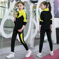 女童春装套装2018新款韩版中大童洋气卫衣三件套儿童运动潮衣春季