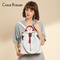 Clous KrauseCK女包双肩包女新款大容量双肩包书包旅行包时尚百搭学院风休闲包