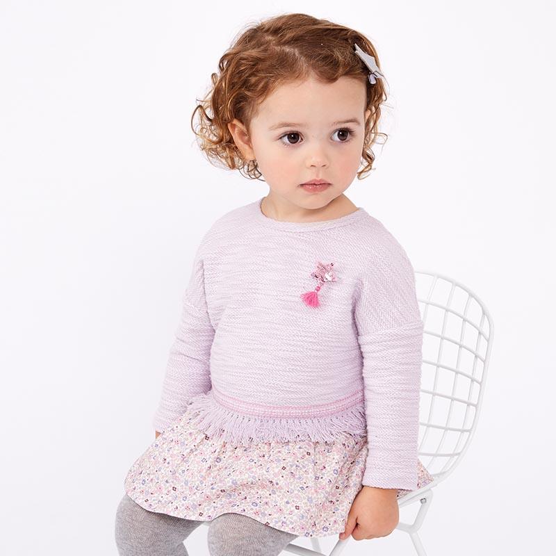 davebella戴维贝拉春秋款女童A字版裙式上衣DBZ6979戴维贝拉 每周二上新  0-6岁品质童装