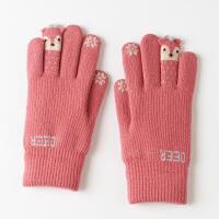 可爱手套女冬 卡通萌加厚日系针织手套女冬 保暖 学生