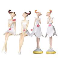 创意家居装饰品摆件情侣娃娃电视柜客厅小饰品摆设树脂工艺品