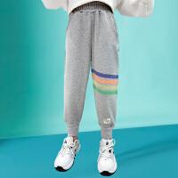 木木屋女童裤子2021新款女童运动裤春夏款儿童裤子中大童女孩休闲裤